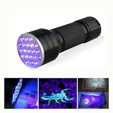 Mini UV Ultra Violet 21 LED Lampe Poche Blacklight Torche Détécteur Faux Billet