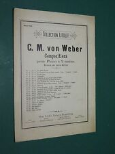 Partition ancienne Piano WEBER Invitation à la valse Op. 65