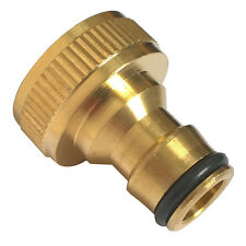 """3/4"""" Garden Brass Threaded Hose Tap Adaptor Water Pipe Connector Tube Fitting"""