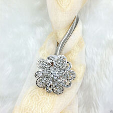 Magnetic Crystal Flower Curtain Tiebacks Tie Backs Buckle European Style