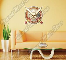 Gladiator Blade Death Shield Sword Funny Wall Sticker Room Interior Decor 22""