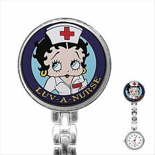 Betty Boop Stainless Steel Nurse Watch Nurses Watch  Fob Pocket Watch 2