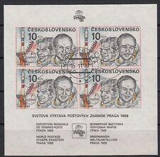 Cecoslovacchia, 1987 FRANCOBOLLI ESPOSIZIONE blocco 73 timbrato, (21430)