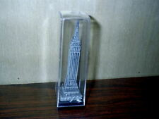 "4"" New York Empire State Building Pewter Souvenir Sealed In Plastic Case"