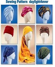7 Turban Head Wrap Chemo Wear Hat McCall's Sewing Pattern 4116  New Size S-L #r