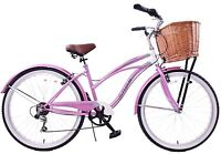 """LIFESTYLE LADIES BICYCLE USA 19"""" BEACH CRUISER CALIFORNIA STYLE WITH BASKET NEW"""
