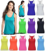NEW WOMEN GIRLS NEON STRETCHY LYCRA VEST TOPS CASUAL DANCE PARTY TUTU VEST TOPS