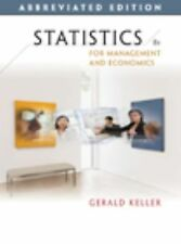 Statistics for Management and Economics, Abbreviated Edition (with CD-ROM), Kell