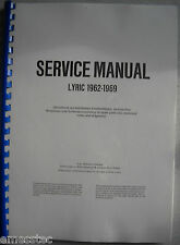 WURLITZER LYRIC 1962-1969 Service Manual