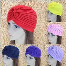 Women Unisex Indian Style Turban Head Wrap Hat Cap Slouch Twist Stretchy Hijab