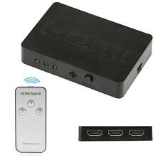 3-In 1-Out HDMI Switch-HUB Adapter+Fernbedienung Für DVD Projektor 3D 720P/1080P