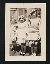 Vintage Antique Photograph Three Young Girls Wearing Cool Old Time Outfits