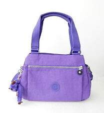 NWT Kipling Orelie Top-Handle Bag With Furry Monkey Vivid Purple