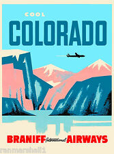 Cool Colorado Air United States of America Travel Advertisement Art Poster