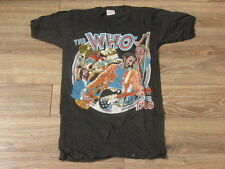 VTG MINT 1980 KEITH MOON TRIBUTE THE WHO Tour/Concert ROCK 2 Sided T-Shirt-SMALL