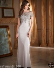 Charming Short Sleeve Embroidery A-Line Mother of the Bride Dresses Vestido