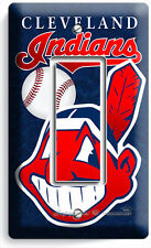 CLEVELAND INDIANS BASEBALL SINGLE GFCI LIGHT SWITCH WALL PLATE COVER HOME DECOR