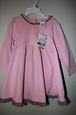 NWT BABY GIRL 18 MOS. POLLY & FRIENDS PINK DRESS WITH DIAPER COVER,CUTE!