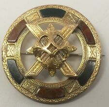 Antique Edwardian Georgian 1840s Irish Scottish 14k Yellow Gold Pin Brooch