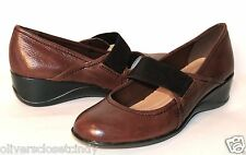 NATURALIZER Ande Dark Brown Leather Wedge Heel Shoe Sz 8.5 Retails $79  NEW