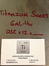 """TITANIUM SHEET 6AL-4V .032"""" x 12"""" x 12"""""""