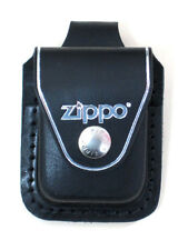 Zippo lplbk black leather lighter pouch loop
