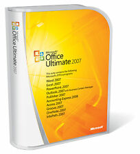 MICROSOFT Office 2007 ULTIMATE completo per Windows 1pc Licenza a vita