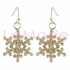 CRYSTAL CLEAR SNOWFLAKE EARRING DANGLE EARRINGS MADE WITH SWAROVSKI ELEMENTS