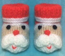 KNITTING PATTERN - Father Christmas / Santa Booties to fit 3 - 6 month old Baby