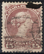 Canada 15c Large Queen Scott 29, F-VF used, catalogue - $55 nice