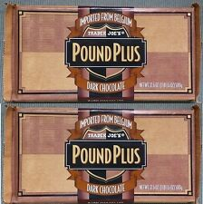 NEW 2 HUGE Trader Joes Dark Chocolate 54% Cocoa Candy Bars NO ARTIFICIAL FLAVORS