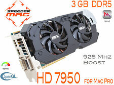  Radeon HD 7950 for Mac Pro 3.1 ~ 5.1 AMD  3GB Ram GDDR5 925Mhz, 4k,  Metal