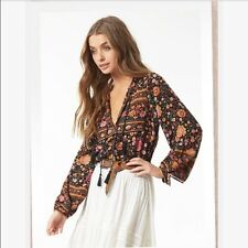 SPELL & The Gypsy super soft Folk Town Winter Garden blouse M NEW with tags