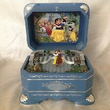Disney SNOW WHITE'S DANCE Ever After LE Spin Figurine Music Box-RARE
