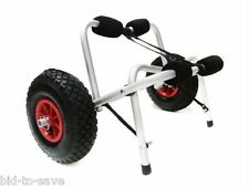 Aluminum Kayak Jon Boat Canoe Gear Dolly Cart Trailer Carrier Trolley Wheels NEW