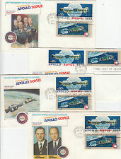 Apollo space flight 1975 USA Russia SOYUZ combined stamps set of 4 covers