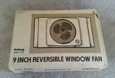 Vintage Galaxy Window Fan 2 speed Reversible Works Great Model 2122 Tested