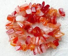 Royaume-uni le moins cher-rouge agate pépites chips 12x8mm pierres précieuses perles orange