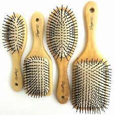 DIANE BAMBOO CUSHION PADDLE HAIR BRUSH BALL-TIPPED NYLON PINS (CHOOSE MODEL)