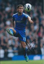 Eden HAZARD Signed Autograph 12x8 Photo AFTAL COA Chelsea Premier League WINNERS