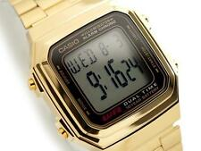 CASIO, A178WGA-1A, RETRO VINTAGE LOOK GOLD TONE DIGITAL, 10-YEAR BATTERY, UNISEX