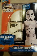 Childs Star Wars Rebels Stormtrooper Action-suit Costume Medium 8-10 Halloween
