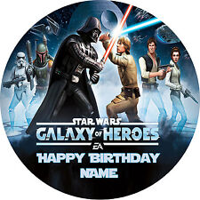 STAR WARS GALAXY PERSONALISED EDIBLE ICING  IMAGE CAKE DECORATION TOPPER PARTY