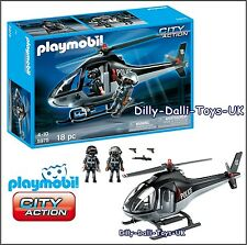 NEW Playmobil 5975 City Action TACTICAL POLICE HELICOPTER Large Playset 2 Figure