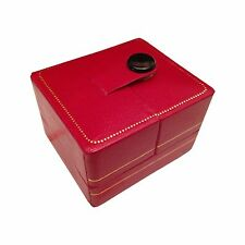 Leatherette Ring Box Gift Organizer Red Jewelry Storage Snap-tab Valentine 2ps