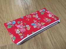 Handmade in Cath Kidston Red Woodland Rose - Fabric Pencil/Make-Up/Glasses Case