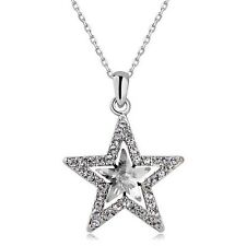 Star Shape Crystal Pendant Necklace Fashion Jewelry Gift