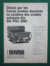 1970'S PUB AS BRAVOUR DENMARK DANEMARK RADIO MILITAIRE DA/PRC-2061 FRENCH AD