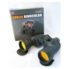 SE 30X50 BINOCULARS WITH RUBY COATED LENSES CASE COMPASS NIB