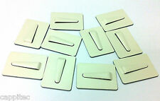 PACK OF 10 ADHESIVE METAL CABLE CLIPS SIZE LARGE 31mm x 44mm FOR 12mm CABLE